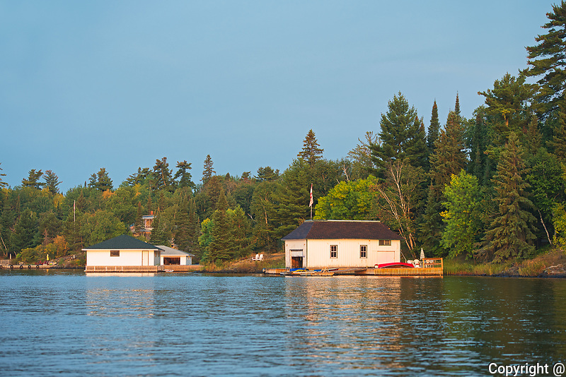 Boathouses on Lake of the Woods<br />