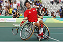 Shingo Kunieda (JPN),<br /> SEPTEMBER 15, 2016 - Wheelchair Tennis : <br /> Men's Doubles Bronze Medal match<br /> at Olympic Tennis Centre<br /> during the Rio 2016 Paralympic Games in Rio de Janeiro, Brazil.<br /> (Photo by Shingo Ito/AFLO)