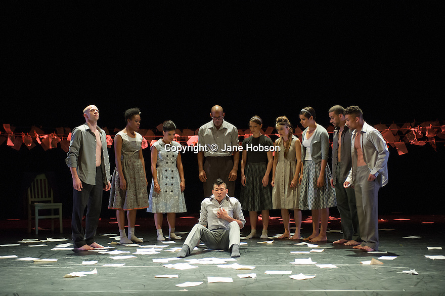 Baden Baden, Germany. 14.06.2013. Cedar Lake Ballet, in NECESSITY, AGAIN, choreographed by Jo Strømgren. Photograph © Jane Hobson, 2013.