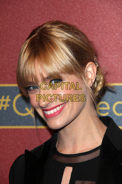 BEVERLY HILLS, CA - February 28: Beth Behrs at QVC 5th Annual Red Carpet Style Event, Four Seasons, Beverly Hills,  February 28, 2014.  <br /> CAP/MPI/JO<br /> &copy;Janice Ogata/MediaPunch/Capital Pictures