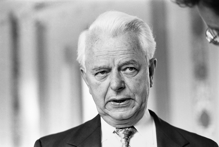 "Sen. Robert Carlyle ""Bob"" Byrd, D-W.Va. 1991 (Photo by Maureen Keating/CQ Roll Call)"