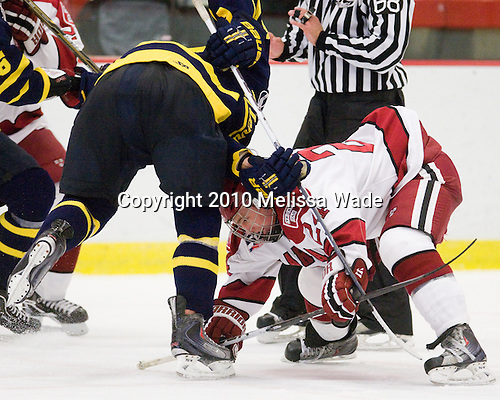 Luke Greiner (Harvard - 24) - The visiting Merrimack College Warriors defeated the Harvard University Crimson 3-1 (EN) at Bright Hockey Center on Tuesday, November 30, 2010.