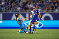 Orlando, FL - Saturday July 16, 2016: Danielle Colaprico, Kristen Edmonds during a regular season National Women's Soccer League (NWSL) match between the Orlando Pride and the Chicago Red Stars at Camping World Stadium.