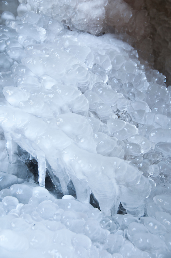Details of ice formations at Pictured Rocks National Lakeshore.