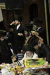 Israel, Bnei Brak, the Rabbi of the Premishlan congregation at the Synagogue on Purim holiday