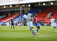 7th July 2020; Selhurst Park, London, England; English Premier League Football, Crystal Palace versus Chelsea; Tammy Abraham of Chelsea celebrates after scoring his sides 3rd goal in the 71st minute to make it 3-1