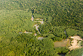 Pará State, Brazil. Rain forest with illegal gold mines (Garimpos).