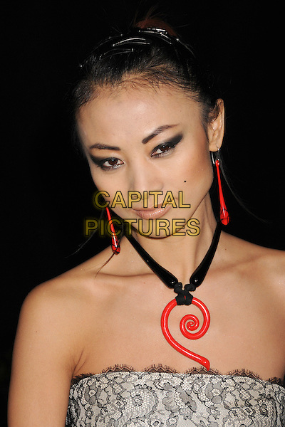 BAI LING.4th Annual Peapod Foundation Benefit Concert at Avalon, Hollywood, California, USA..February 7th, 2008.headshot portrait red dangling earrings necklace black strapless .CAP/ADM/BP.©Byron Purvis/AdMedia/Capital Pictures.