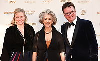 Jane Venters, Maureen Lipman, Ewan Venters at The Old Vic Bicentenary Ball held at The Old Vic, The Cut, Lambeth, London, England, UK on Sunday13 May 2018.<br /> CAP/MV<br /> &copy;Matilda Vee/Capital Pictures