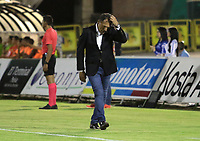 NEIVA- COLOMBIA, 03-11-2018:Miguel Angel Russo director técnico de Millonarios  contra el Atlético Huila  durante partido por la fecha 18 de la Liga Águila II 2018 jugado en el estadio Guillermo Plazas Alcid de la ciudad de Neiva. / Miguel Angel Russo coach of Millonarios agaisnt of Atletico Huila  during the match for the date 18 of the Liga Aguila II 2018 played at the Guillermo Plazas Alcid Stadium in Neiva  city. Photo: VizzorImage / Sergio Reyes / Contribuidor.