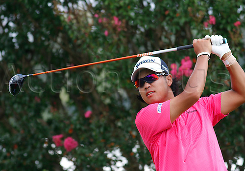 13.09.2014. Atlanta, GA, USA.   Hideki Matsuyama in the third round of the FedEx Cup - The Tour Championship at East Lake Golf Club in Atlanta, Georgia.