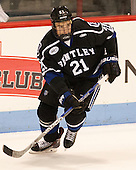 Matt Blomquist (Bentley - 21) - The visiting Bentley University Falcons defeated the Northeastern University Huskies 3-2 on Friday, October 16, 2015, at Matthews Arena in Boston, Massachusetts.
