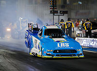 Jul 21, 2017; Morrison, CO, USA; NHRA funny car driver Tim Wilkerson during qualifying for the Mile High Nationals at Bandimere Speedway. Mandatory Credit: Mark J. Rebilas-USA TODAY Sports