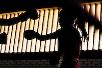 Geraldin Hamann, a young Colombian boxer, practices sparring in the boxing gym in Cali, Colombia, 26 June 2013. During the recent years, Kina Malpartida, a Peruvian female professional boxer, has won the World Championship title several times and so she has become a sporting idol and an inspiration for a generation of young girls throughout Latin America. Working out hard in poorly equipped gyms, they dream of becoming a boxing star. The Cauca Valley and the Caribbean coast are believed to be a home of the most talented female boxers in Colombia.