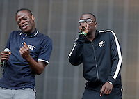 J Hus performs during The New Look Wireless Festival at Finsbury Park, London, England on 28 June 2015. Photo by Andy Rowland.