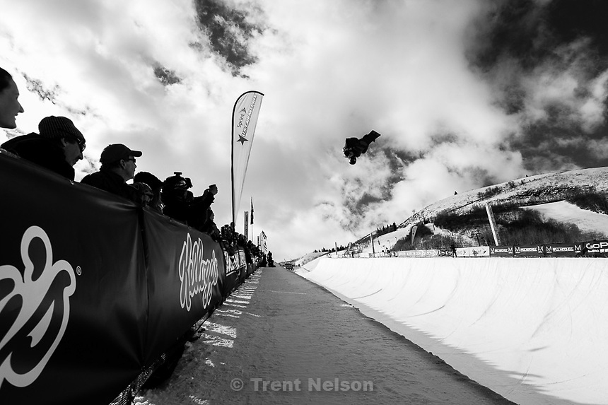 Trent Nelson  |  The Salt Lake Tribune.Kelly Clark competes at the FIS Snowboard World Cup Friday, February 1, 2013 in Park City.