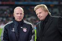 FUSSBALL   CHAMPIONS LEAGUE   SAISON 2012/2013   GRUPPENPHASE   FC Bayern Muenchen - LOSC Lille                          07.11.2012 Sportvorstand Matthias Sammer (v. li., FC Bayern Muenchen) mit Oliver Kahn im TV Interview