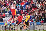 Shane Dalton Kenmare in Action against Liam Lynch  Ballinasloe in the Junior All Ireland Club Final in Croke park on Sunday.