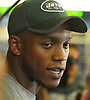 Darron Lee #58 of the New York Jets speaks with the media in the locker room after a day of OTAs held at the Atlantic Health Jets Training Center in Florham Park, NJ on Tuesday, May 29, 2018.