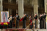 NEW YORK, NY - DECEMBER 11: A group of mariachis plays some songs the virgin symbol of Guadalupe in the Cathedral of Saint Patrik, on December 11, 2018, in New York. Where hundreds of parishioners attend to pay homage to the Virgin of Guadalupe. (Photo by Pablo Monsalve/VIEWpress)