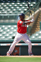 Boston Red Sox first baseman Josh Ockimey (18) during an Instructional League game against the Baltimore Orioles on September 22, 2016 at the Ed Smith Stadium in Sarasota, Florida.  (Mike Janes/Four Seam Images)