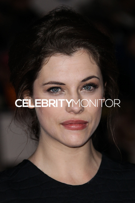 "WESTWOOD, CA, USA - FEBRUARY 24: Jessica De Gouw at the World Premiere Of Universal Pictures And Studiocanal's ""Non-Stop"" held at Regency Village Theatre on February 24, 2014 in Westwood, Los Angeles, California, United States. (Photo by Xavier Collin/Celebrity Monitor)"