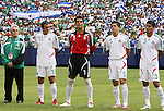 10 June 2007: Justino Compean, president of the Federacion Mexicana de Futbol Asociacion, with Cuauhtemoc Blanco (10), Oswaldo Sanchez (1), Ricardo Osorio (5), and Carlos Salcedo (3). The Honduras Men's National Team defeated the National Team of Mexico 2-1 at Giants Stadium in East Rutherford, New Jersey in a first round game in the 2007 CONCACAF Gold Cup.