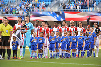 San Jose, CA - Saturday June 17, 2017: San Jose Earthquakes Starting Eleven prior to a Major League Soccer (MLS) match between the San Jose Earthquakes and the Sporting Kansas City at Avaya Stadium.