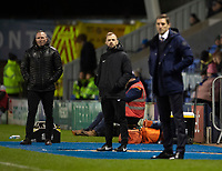 Lincoln City manager Michael Appleton, left, in the technical area<br /> <br /> Photographer Andrew Vaughan/CameraSport<br /> <br /> The EFL Sky Bet League One - Shrewsbury Town v Lincoln City - Saturday 11th January 2020 - New Meadow - Shrewsbury<br /> <br /> World Copyright © 2020 CameraSport. All rights reserved. 43 Linden Ave. Countesthorpe. Leicester. England. LE8 5PG - Tel: +44 (0) 116 277 4147 - admin@camerasport.com - www.camerasport.com
