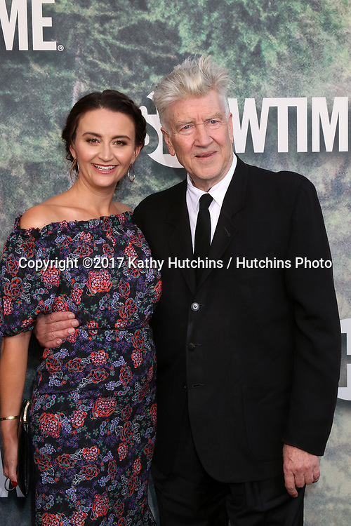 "LOS ANGELES - MAY 19:  Emily Stofle, David Lynch at the ""Twin Peaks"" Premiere Screening at The Theater at Ace Hotel on May 19, 2017 in Los Angeles, CA"