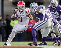 NWA Democrat-Gazette/JASON IVESTER <br /> Arkansas vs Kansas St, Liberty Bowl<br /> Arkansas running back Alex Collins (3) carries the ball during the first quarter on Saturday, Jan. 2, 2016, at the Liberty Bowl in Memphis, Tenn.