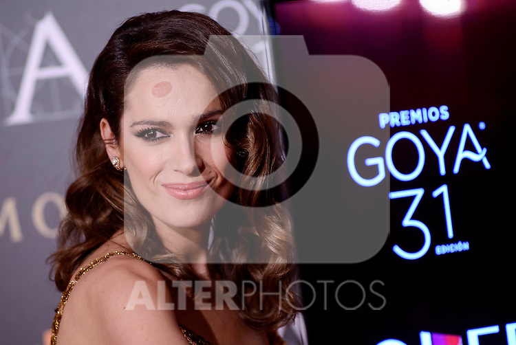 Mar Saura attends to the Red Carpet of the Goya Awards 2017 at Madrid Marriott Auditorium Hotel in Madrid, Spain. February 04, 2017. (ALTERPHOTOS/BorjaB.Hojas)