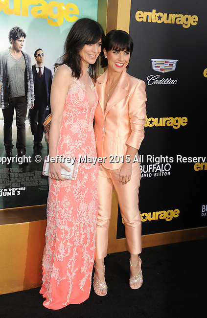WESTWOOD, CA - JUNE 01: Actresses Perrey Reeves; Constance Zimmer arrives at the 'Entourage' - Los Angeles Premiere at Regency Village Theatre on June 1, 2015 in Westwood, California.