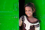 Portrait of a girl in a small village of Rajasthan, India