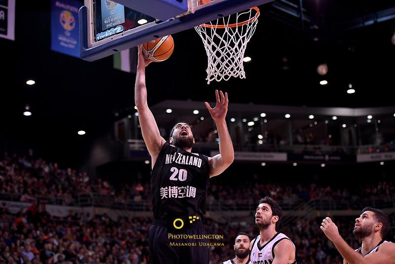 New Zealand Tall Blacks' Jordan Ngatai in action during the the FIBA World Cup Basketball Qualifier - NZ Tall Blacks v Jordan at Horncastle Arena, Christchurch, New Zealand on Thursday 29 November  2018. <br /> Photo by Masanori Udagawa. <br /> www.photowellington.photoshelter.com