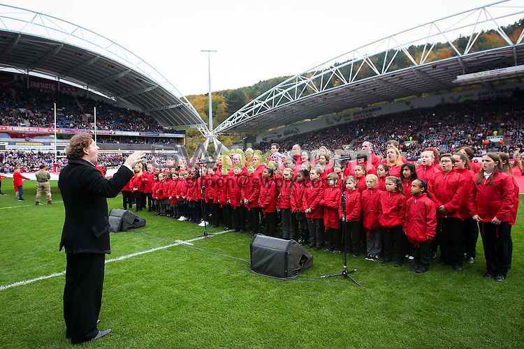 Picture by Alex Whitehead/SWpix.com - 29/10/16 - Rugby League - 2016 Ladbrokes Four Nations - England v New Zealand - The John Smith's Stadium, Huddersfield, England - Choir.