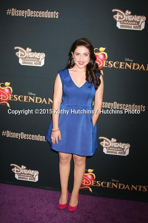 "LOS ANGELES - JUL 24:  Brenna D'Amico at the ""Descendants"" Premiere Screening at the Walt Disney Studios on July 24, 2015 in Burbank, CA"