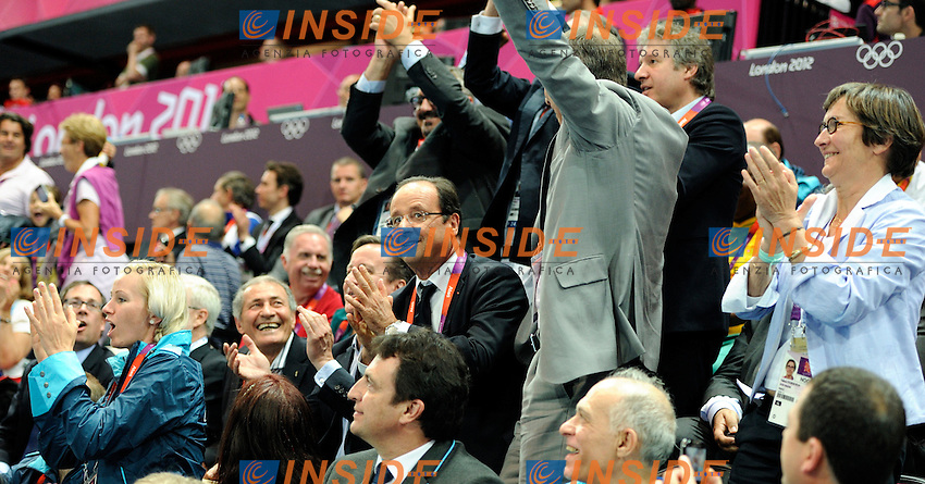 Il Presidente Francois Hollande ed il Primo Ministro Inglese David Cameron.London 30/7/2012 .London 2012 Olympic games - Olimpiadi Londra 2012..Foto JB Autissier/Panoramic/Insidefoto