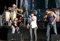 Cuba´s Orishas band performs during  the  finish day of spectacles  at Rock in Rio Lisbon festival  at Bela Vista park  on 6 June 2008.