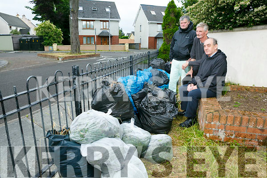 Residents annoyed at illegal dumping in Ogham Rian Housing Estate Tralee. Pictured locals Thomas O'Brien, Michael O'Brien  and John Morrison