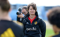 20180301 - LARNACA , CYPRUS :  Belgian physiotherapist Fabienne Van De Steene pictured during a Matchday -1 training from The Belgian Red Flames prior to their game against Spain , on Thursday 1 March 2018 at the Alpha Sports Grounds in Larnaca , Cyprus . This will be the second game in group B for Belgium during the Cyprus Womens Cup , a prestigious women soccer tournament as a preparation on the World Cup 2019 qualification duels. PHOTO SPORTPIX.BE | DAVID CATRY