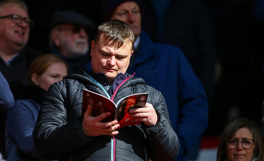 Burnley fans take their seats<br /> <br /> Photographer Alex Dodd/CameraSport<br /> <br /> The Premier League - Liverpool v Burnley - Sunday 10th March 2019 - Anfield - Liverpool<br /> <br /> World Copyright © 2019 CameraSport. All rights reserved. 43 Linden Ave. Countesthorpe. Leicester. England. LE8 5PG - Tel: +44 (0) 116 277 4147 - admin@camerasport.com - www.camerasport.com