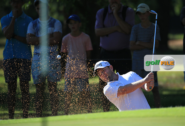 Branden Grace (RSA) finds the bunker on the 17th during the completion of Round Two of the 2016 BMW SA Open hosted by City of Ekurhuleni, played at the Glendower Golf Club, Gauteng, Johannesburg, South Africa.  09/01/2016. Picture: Golffile | David Lloyd<br /> <br /> All photos usage must carry mandatory copyright credit (&copy; Golffile | David Lloyd)