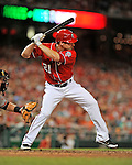 19 May 2012: Washington Nationals outfielder Xavier Nady in action against the Baltimore Orioles at Nationals Park in Washington, DC. The Orioles defeated the Nationals 6-5 in the second game of their 3-game series. Mandatory Credit: Ed Wolfstein Photo