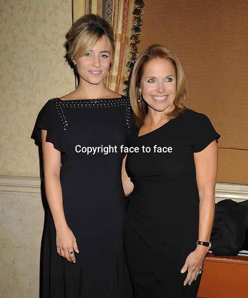 NEW YORK, NY - OCTOBER 23: Dianna Agron, Katie Couric at Somaly Mam Foundation's &quot;Life Is Love&quot; Gala to celebrate hope, action and change in the fight to end slavery at Gotham Hall in New York. October 23, 2013. <br />