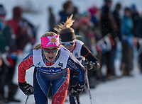 Ella-Sophie Kuzyk of Methow Valley Nordic competes in the Junior Women's 5K Classic during the 2018 U.S. National Cross Country Ski Championships at Kincaid Park in Anchorage.