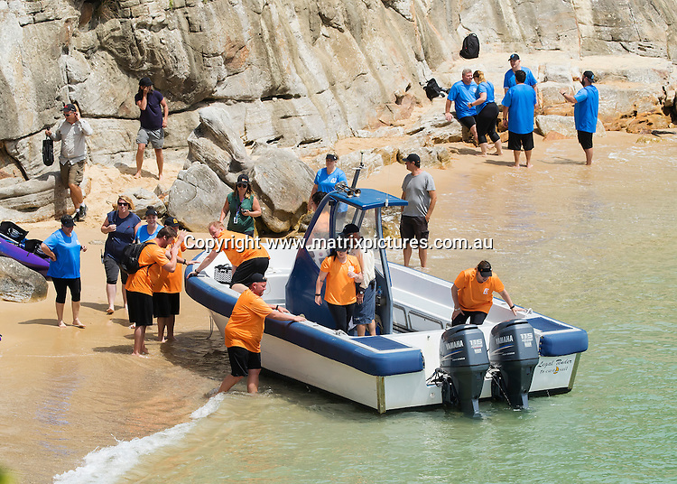 8 NOVEMBER 2016 SYDNEY AUSTRALIA<br /> WWW.MATRIXPICTURES.COM.AU<br /> <br /> EXCLUSIVE PICTURES <br /> <br /> The Biggest Loser contestants filming their first Episode at Lady Bay Beach in Sydney. The overweight contestants were made to paddle canoes from Quarantine Station at Nth Head Manly across the harbour to the nudist beach under the supervision of lifeguards and trainers. The normally nudist beach was closed to the public.Michelle Bridges replacement Libby Babet was also onset along with Fiona Falkiner and Shannan Ponton.<br /> <br /> *ALL WEB USE MUST BE CLEARED*<br /> <br /> Please contact prior to use:  <br /> <br /> +61 2 9211-1088 or email images@matrixmediagroup.com.au <br /> <br /> Note: All editorial images subject to the following: For editorial use only. Additional clearance required for commercial, wireless, internet or promotional use.Images may not be altered or modified. Matrix Media Group makes no representations or warranties regarding names, trademarks or logos appearing in the images.