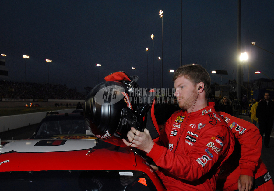 May 5, 2007; Richmond, VA, USA; Nascar Nextel Cup Series driver Dale Earnhardt Jr (8) prior to the Jim Stewart 400 at Richmond International Raceway. Mandatory Credit: Mark J. Rebilas-US PRESSWIRE Copyright © 2007 Mark J. Rebilas..