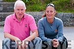 Beach Volleyball: Watching the beach volleyball competition on the beach in Ballybunion on Sunday last were Jimmy Deenihan & Marie Claire Sabigal of Beach Volleyball Ireland.