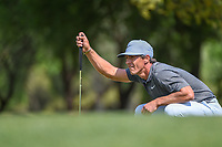 Thorbjorn Olesen (DEN) lines up his putt on 1 during day 1 of the WGC Dell Match Play, at the Austin Country Club, Austin, Texas, USA. 3/27/2019.<br /> Picture: Golffile | Ken Murray<br /> <br /> <br /> All photo usage must carry mandatory copyright credit (&copy; Golffile | Ken Murray)